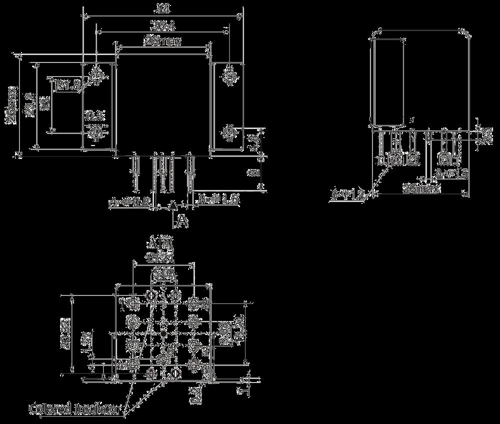 1JB6 1 Dimensions - 1JB6-1 Miniature Magnetic Latching Relays