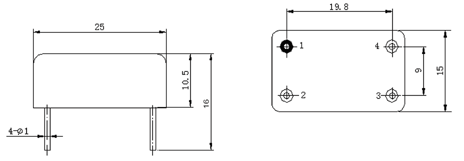 1JG2 1 Mechanical drawings - 1JG2-1 DC Solid State Relay
