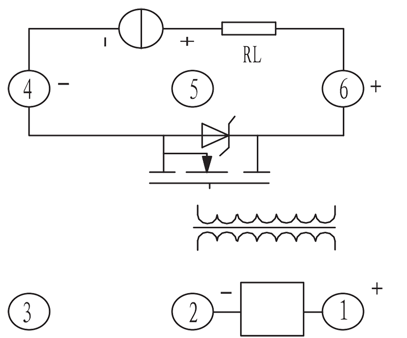 1JG2 3 Bottom view Circuit - 1JG2-3 DC Solid State Relay