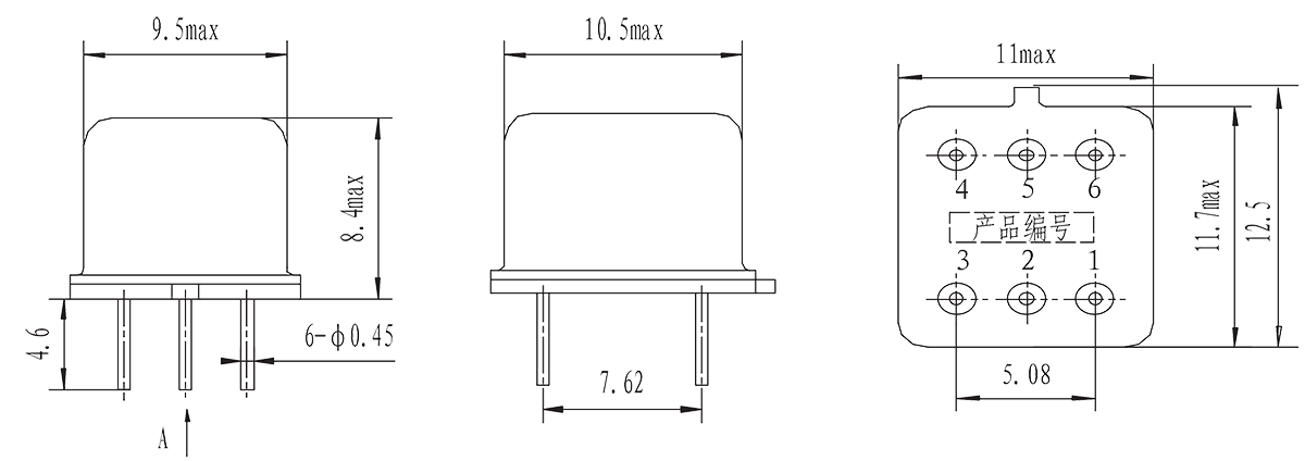1JG2 3 Mechanical drawings - 1JG2-3 DC Solid State Relay