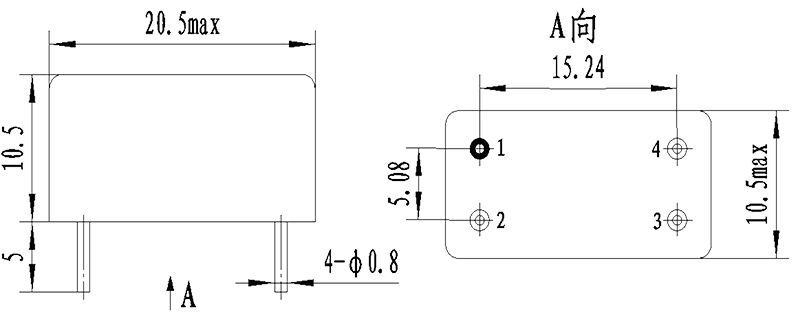 1JG3 1 Mechanical drawings - 1JG3-1 DC Solid State Relay