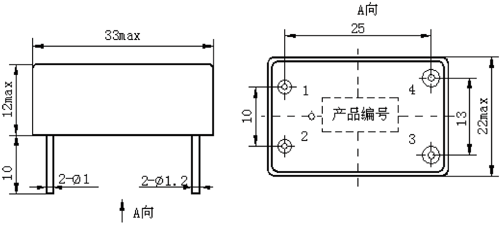 1JG7 3 Mechanical drawings - 1JG7-3 DC Solid State Relay