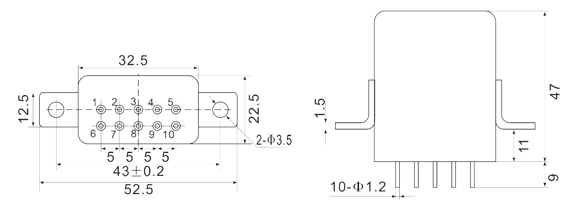1JSD 5 Mechanical drawings - 1JSD-5 Hybrid Delay Relays