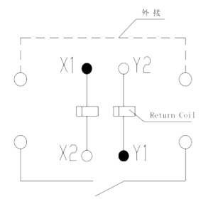 1jb40 1 circuit diagram 300x287 - 1JB40-1 Miniature Magnetic Latching Relays