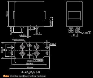 1jb40 1 dimensions 300x253 - 1JB40-1 Miniature Magnetic Latching Relays
