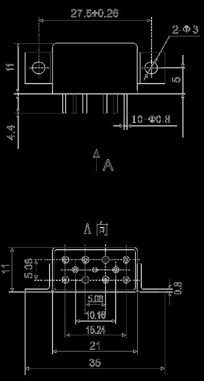 2JB2 1 Dimensions Installation method B3 - 2JB2-1 Magnetic Latching Relays