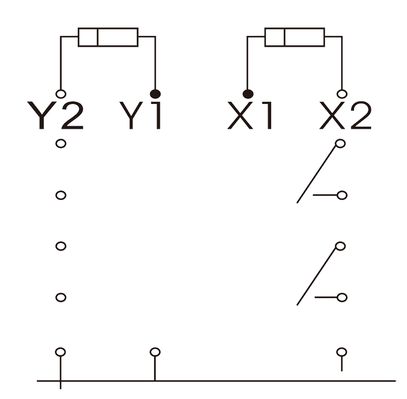 2JB2 2 Circuit Diagram - 2JB2-2 Hermetic Magnetic Latching Relays
