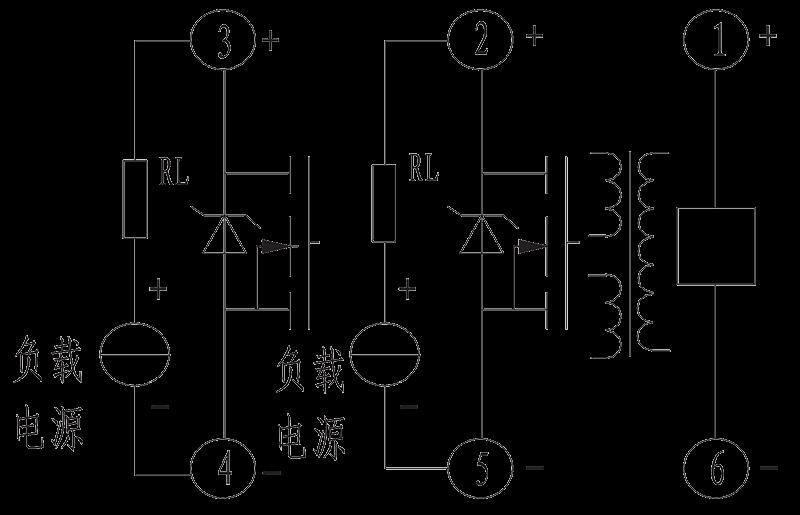 2JG0.5 1 Bottom view Circuit - 2JG0.5-1 Hermetic DC Solid State Relay