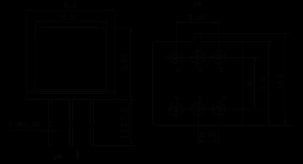 2JG0.5 1 Mechanical drawings - 2JG0.5-1 Hermetic DC Solid State Relay