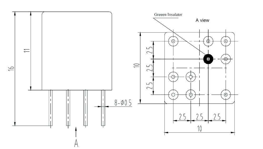 2JL0.5 1 Dimensions 1 - 2JB0.5-1 Magnetic Latching Relays