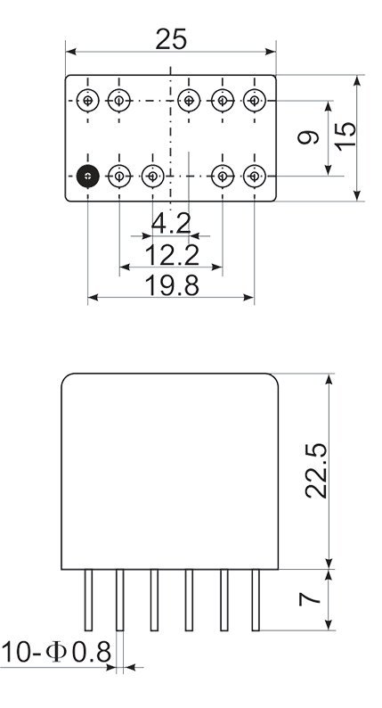 2JS12 1 1 Mounting Style A 0 - 2JS12-1 Hybrid Delay Relays