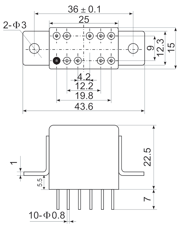2JS12 1 1 Mounting Style C 2 - 2JS12-1 Hybrid Delay Relays