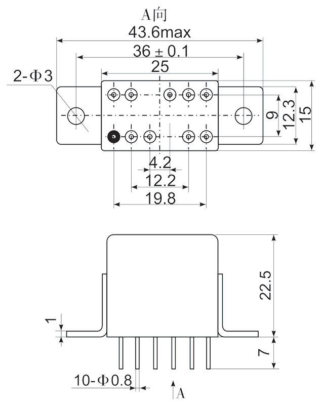 2JS12 1 1 Mounting Style C1 1 - 2JS12-1 Hybrid Delay Relays
