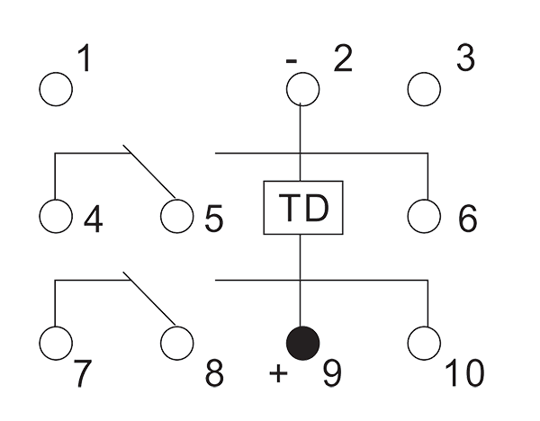 2JS2A2 1 Circuit drawing - 2JS2A2-1 Hybrid Delay Relays