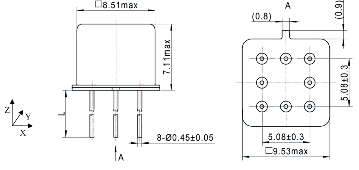 2JT1 920 Outline Dimensions - 2JT1-920 TO-5 Relay