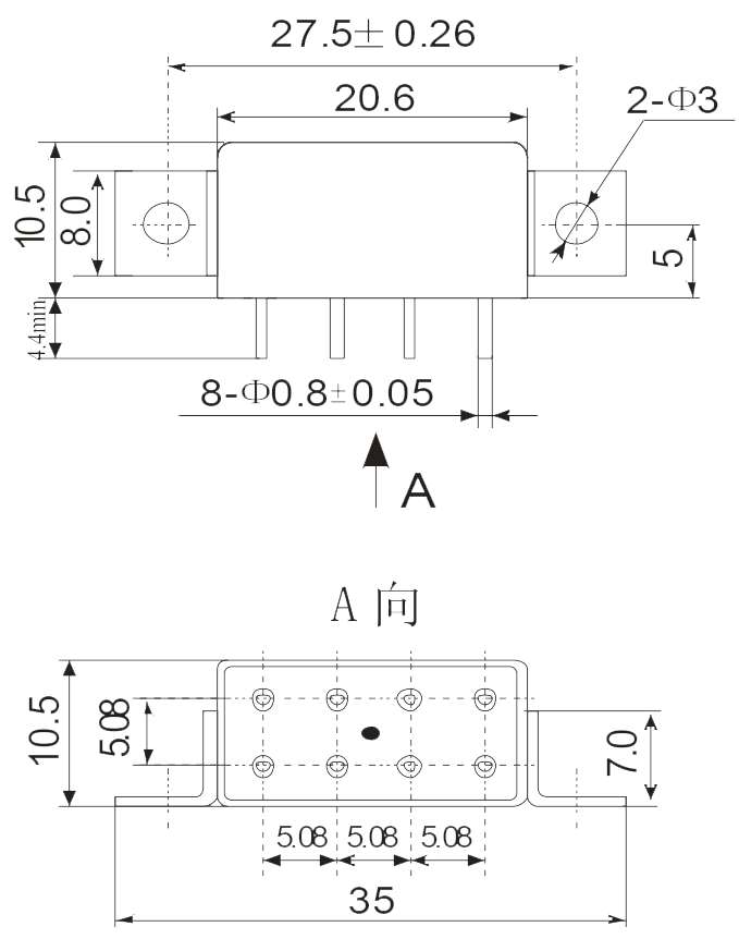 2JT5 2 dimension Mounting Style B 3 - 2JT5-2 Ultra-small General-Purpose Relay
