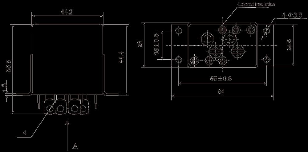 2JT80 1A Dimensions - 2JT80-1A Small General-Purpose Relay