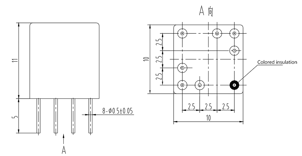 2jl0.5 2 Dimensions - 2JL0.5-2 Miniature Sensitive Electromagnetic Relay