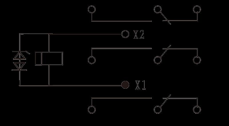 3JT25 2 Circuit Diagram - 3JT25-2 Hermetic Electromagnetic Relay
