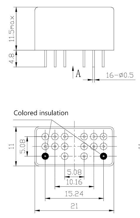 4JB2 2 Dimensions Mounting style A 0 - 4JB2-2 Magnetic Latching Relays