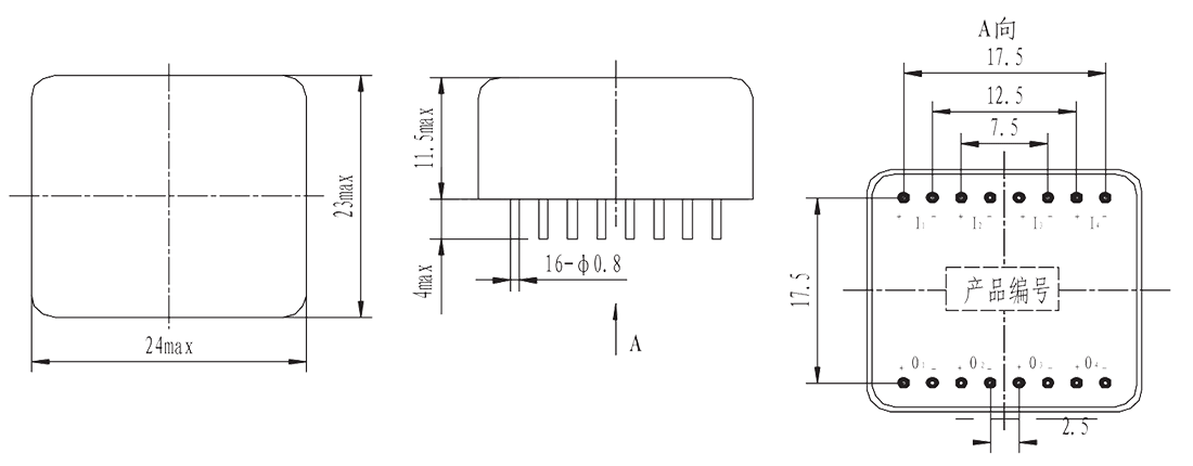 4JG2 2 Mechanical drawings - 4JG2-2 DC Type Solid State Relay