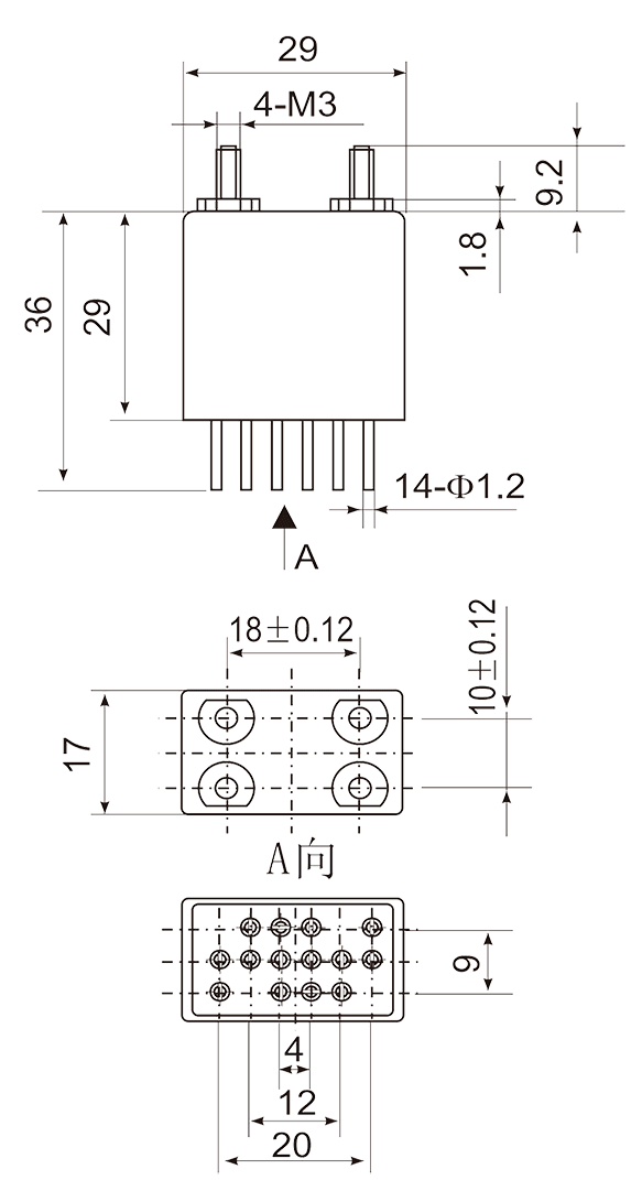 4JGXM 3 Dimensions Mountinq Stvle D 4 - 4JGXM-3 Small General-Purpose Relay