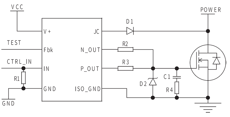DRV 2 Circuit Diagram - DRV-2 MOSFET Isolated Drive Module