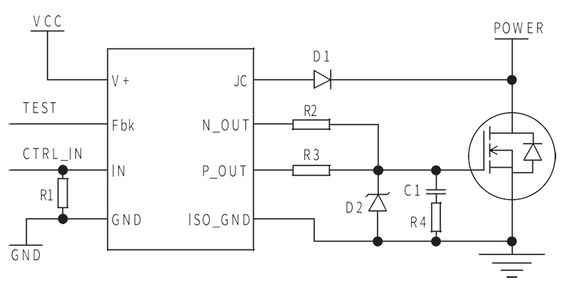 DRV 3 Circuit Diagram - DRV-3 MOSFET Isolated Drive Module
