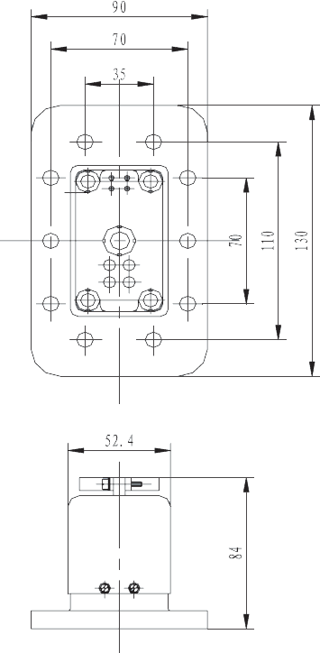 G103C socket Dimension - G103C Umbilical Connector