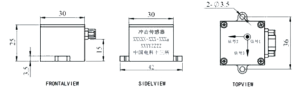 IS series Telemetry shock Sensor Dimensions 300x90 - IS series Telemetry Shock Sensor