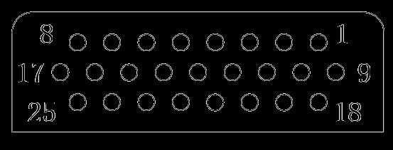 J24H contact arrangement 03 - J24H Series Rectangular Connector