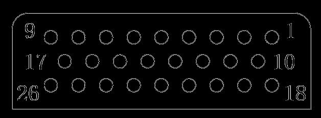 J24H contact arrangement 18 - J24H Series Rectangular Connector