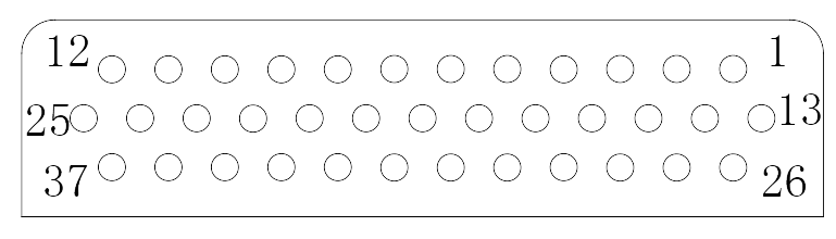 J24H contact arrangement 20 - J24H Series Rectangular Connector