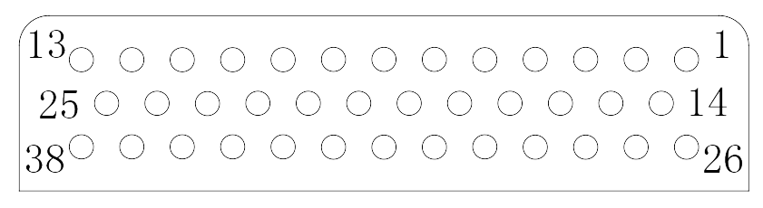 J24H contact arrangement 23 - J24H Series Rectangular Connector