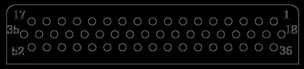 J24H contact arrangement 29 - J24H Series Rectangular Connector