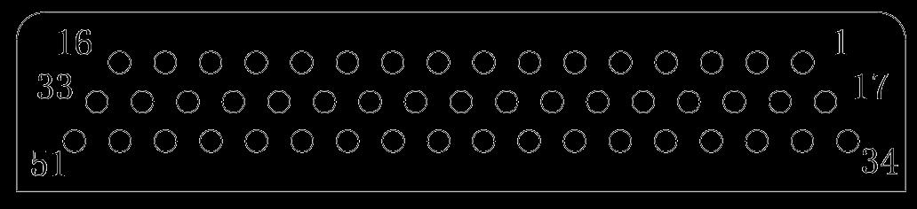 J24H contact arrangement 32 - J24H Series Rectangular Connector
