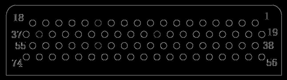 J24H contact arrangement 37 - J24H Series Rectangular Connector