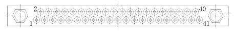 J27A contact arrangement 41pin - J27A Series Rectangular Connector