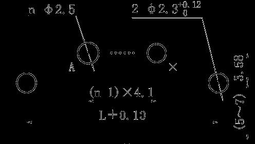 J30J 00P00 0P000 W1 000M 0 right angle PCB hole size