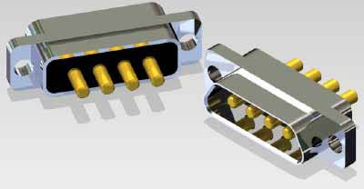 J30J 04P04 0 P 000 N1 000 M - J30J Large and Small Current Mixed Rectangular Marine-resistant Connector