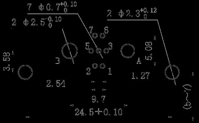 J30J09P02JSW01W1000M right angle PCB hole size