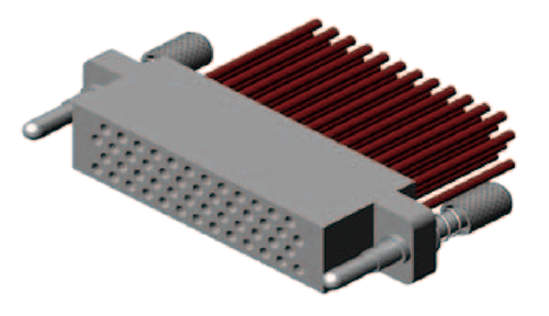 J43 50TJ 3d view - J43 Series Rectangular Connector