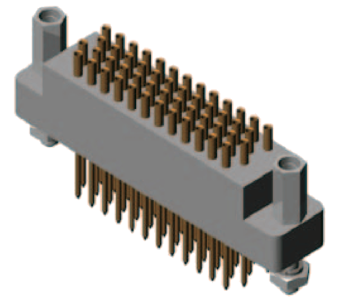 J43 50ZK 3d view - J43 Series Rectangular Connector