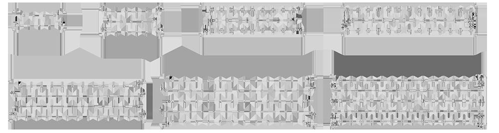 J7 contact arrangement - J7 Series Rectangular Connector
