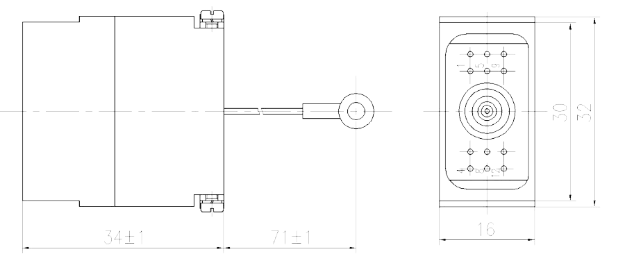 JF10 12TJ Plug drawing - JF10 Series Rectangular Connector