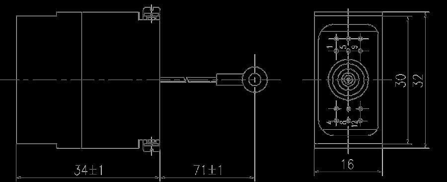 JF10 12TJ Plug drawing - JF10 Series Rectangular Connector