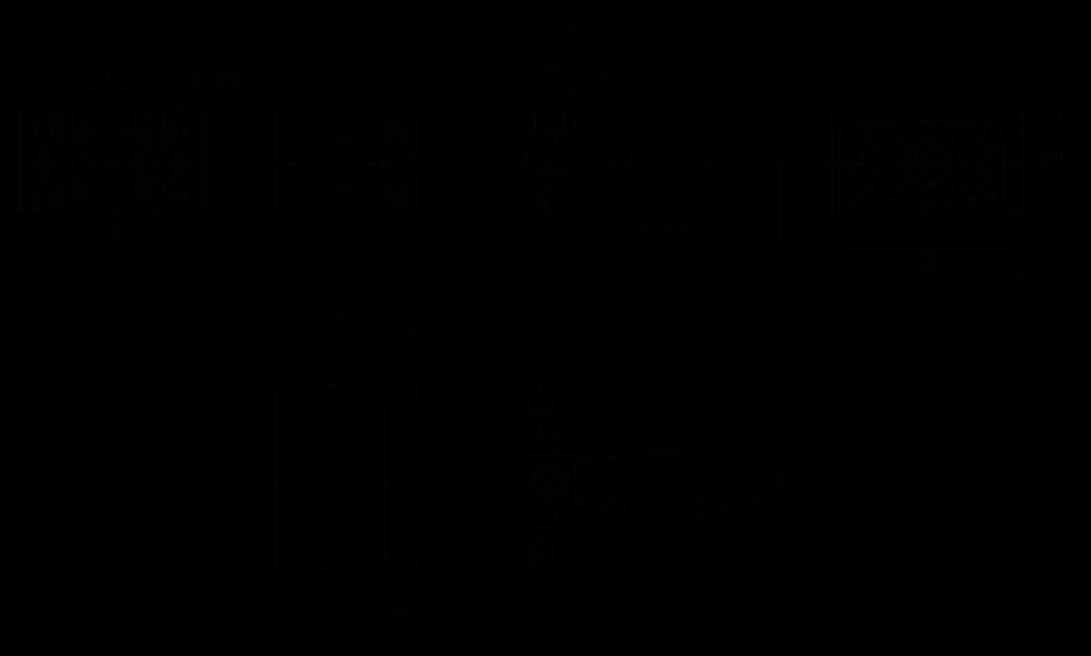 JF10 48TJ Plug drawing - JF10 Series Rectangular Connector
