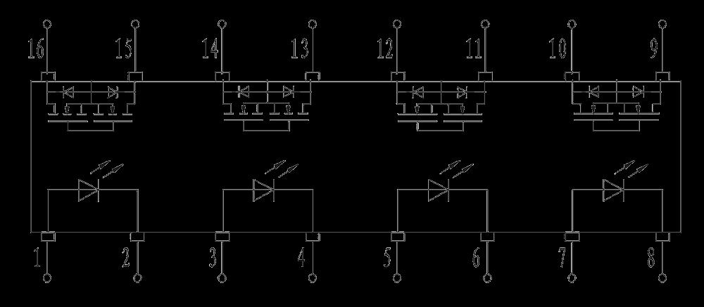 JGC 3031A Internal circuit diagram - JGC-3031A Optical-MOS Relay