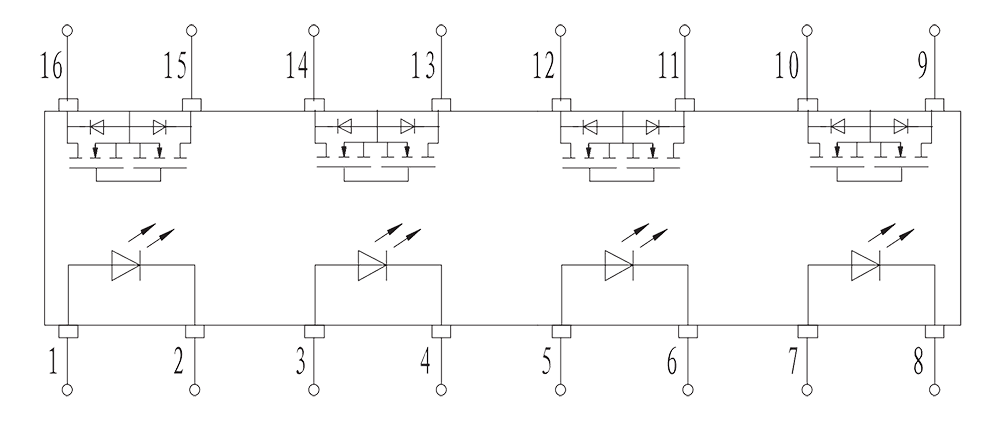 JGC 3032 Internal circuit diagram - JGC-3032 Optical-MOS Relay