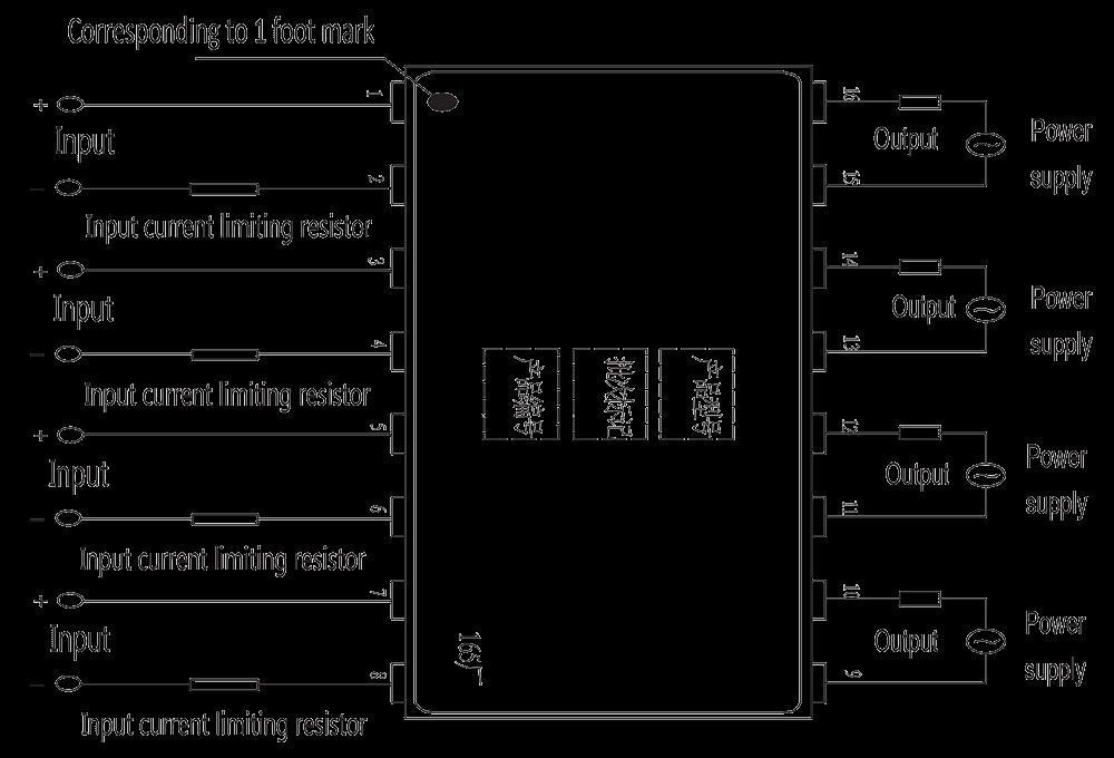 JGC 3032 Overhead wiring diagram - JGC-3032 Optical-MOS Relay